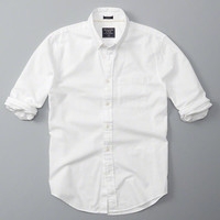 Mens Relaxed Fit Oxford Shirt | Mens Tops | Abercrombie.com