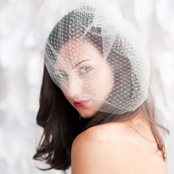 Double layer birdcage veil - Multiple sizes - ready to ship