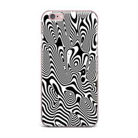 "Danny Ivan ""Trippy"" Black White iPhone Case"
