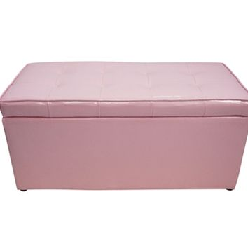 The Dorm Bench - Storage Seating - Calm Pink Dorm Furniture