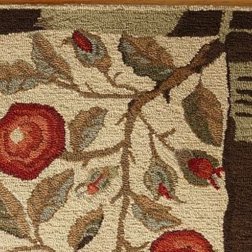Museum Craft Collection - Shelburne Museum Rose Branch Rug | Pottery Barn