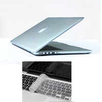 """10colors transparent crystal Shell Cover For Macbook Pro retina 13"""" 15""""  case+ Silicone Keyboard skin Laptop cases accessories"""