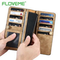 FLOVEME Phone Bag Case For iPhone 7 6 6S Plus Original PU Leather Wallet Case For Samsung Galaxy S8 Plus S7 S6 Edge Phone Cases