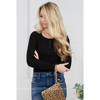 Vera Black Basic Top