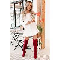 Enchanted Heart Long Sleeve Dress (Ivory)