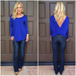 With a Twist Top - ROYAL BLUE