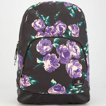 Volcom School Yard Backpack Black Combo One Size For Women 25712014901