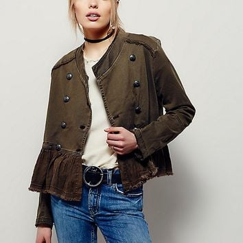 Free People Flared Hem Military Jacket at Free People Clothing Boutique