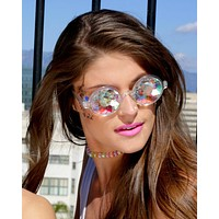 Retro Round Kaleidoscope Glasses