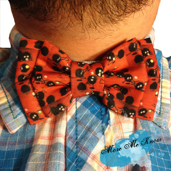 Spirited Away Soot Sprites Custom Fabric Men's Bow Tie
