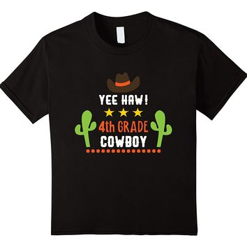 Cowboy Fourth Grade First Day Back To School T-shirt