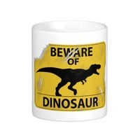 Beware of Dinosaur (damaged) Classic White Coffee Mug