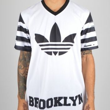 Adidas Originals Brooklyn Nets Oversize T-Shirt - White/Black