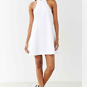 Finders Keepers Once Again Halter Swing Dress- White