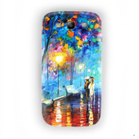 Walking in the rain Painting Design For Samsung Galaxy S3 Case