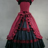 Women Adult Medieval Renaissance Victorian Dress C