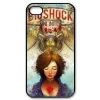 Amazon.com: First-Person Shooter Game BioShock Infinite Pattern Hard Cover Case For Iphone 4/4S Show On hU116631: Electronics