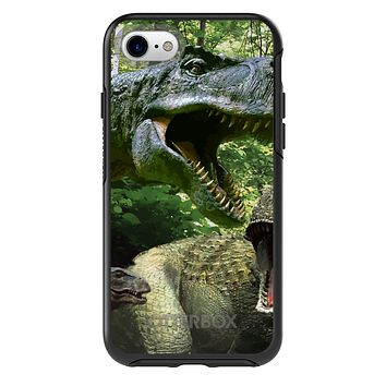 DistinctInk™ OtterBox Symmetry Series Case for Apple iPhone / Samsung Galaxy / Google Pixel - T-Rex Dinosaurs Raptor
