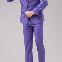 Tsui-Fashion Joker costume Slim Fit Suits Wear to work Party Jacket Pants XZ00170PP 36R M