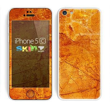The Orange Cracked & Scratched Surface Skin for the Apple iPhone 5c