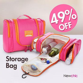 P.travel Women Nylon Travel Storage Bag Cosmetic Bag Home Toiletry Bag
