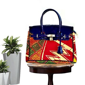 Multicolor Traditional African  Print Woman's Bag