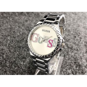 GUESS 2018 street fashion sleek minimalist waterproof quartz watch F-Fushida-8899 3