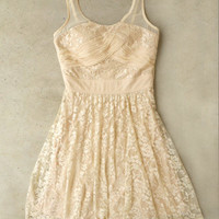 Ivory Lace Soiree Dress [4181] - $42.00 : Vintage Inspired Clothing & Affordable Summer Frocks, deloom | Modern. Vintage. Crafted.