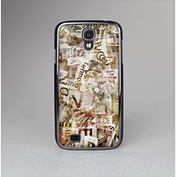 The Faded Torn Newspaper Letter Collage Skin-Sert Case for the Samsung Galaxy S4