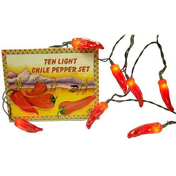10 Chile Pepper Christmas Lights - Decorative Light Covers
