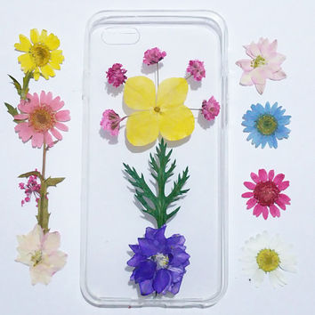 Floral iphone 5s cover, iPhone 6s pressed flower, iPhone 6 cover, bumber iPhone 6s Case, iPhone 6s Plus Case, iphone 6 case, iphone cover