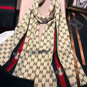 GUCCI 2018 winter new warm wild simple long scarf