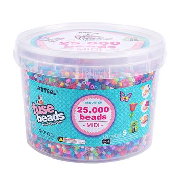 Artkal Beads bucket Set 25,000 pcs Funny Jewerly Kit Set Perler Hama Beads