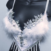 Ice Queen: Ice princess, Elsa, New years, christmas, Rave Wear, Rave, edc, EDC Outfit, Festival Outfit, Rave Outfit