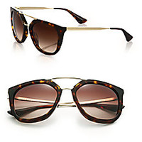 Prada - Double-Bar 54MM Pilot Sunglasses - Saks Fifth Avenue Mobile