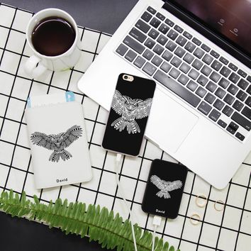 Owl Combo Passport Holder, Power Bank and Phone case