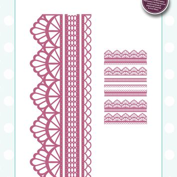 Creative Expressions Craft Dies By Sue Wilson-Configurations-Chantilly Lace Edger