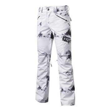 GS Women Snow pants outdoor sportswear specialty snowboarding wear Waterproof Windproof Breathable ski pant winter Snow Trousers