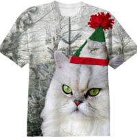 Christmas Cat T-Shirt created by ErikaKaisersot | Print All Over Me