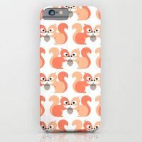 Red squirrel iPhone & iPod Case by Heleen Van Buul