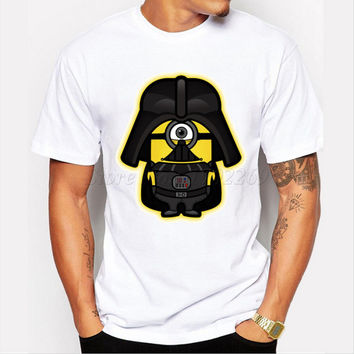 Asian Size Dark Minion men t-shirt Star Wars Minions cartoon printed men tops short sleeve casual funny cool tee