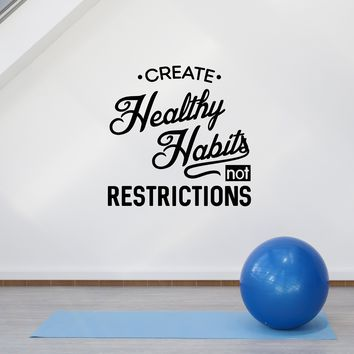 Vinyl Wall Decal Healthy Health Inspirational Quote Medical Office Stickers Mural (ig5709)