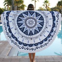 Blue Starfish Holiday Vacation Beach Towel