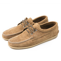 Quoddy for TGD Suede Blucher Moccasin Cognac