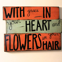 Mumford and Sons sign, Custom Lyrics Sign, Wooden Sign, Wall Art, Handmade Sign