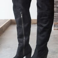 Not Rated Andra Over the Knee Boot - Black