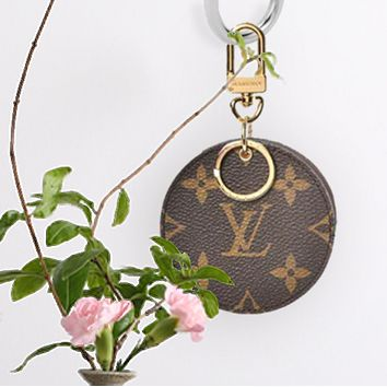 Louis Vuitton Handbag LV Fashion Print Leather Key Pouch Round Key Case Purse Wallet