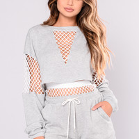 Jax Top - Heather Grey