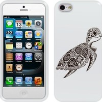 Fincibo (TM) Apple iPhone 5 5S Protector Cover Case Silicone Skin Soft TPU Gel - Cute Turtle