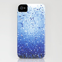 iPhone 4 Case - Ocean Depths Mosaic - Graph Drawing - unique iPhone case, art iPhone case, hipster iphone case, iphone 4 case